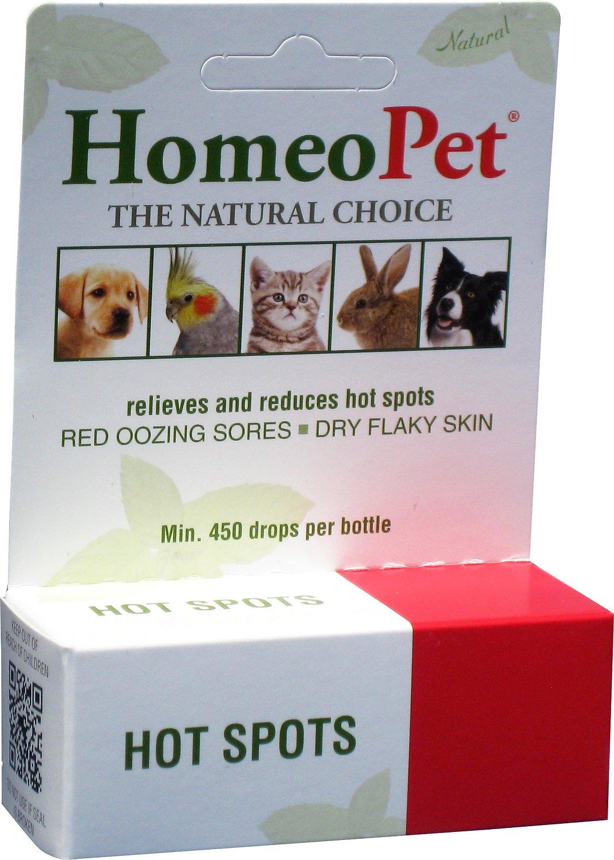 HomeoPet Hot Spots Dog, Cat, Bird & Small Animal Supplement, 450 drops