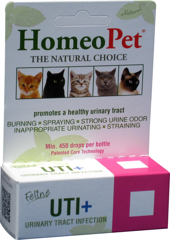 HomeoPet Feline UTI+ Cat Supplement, 450 drops