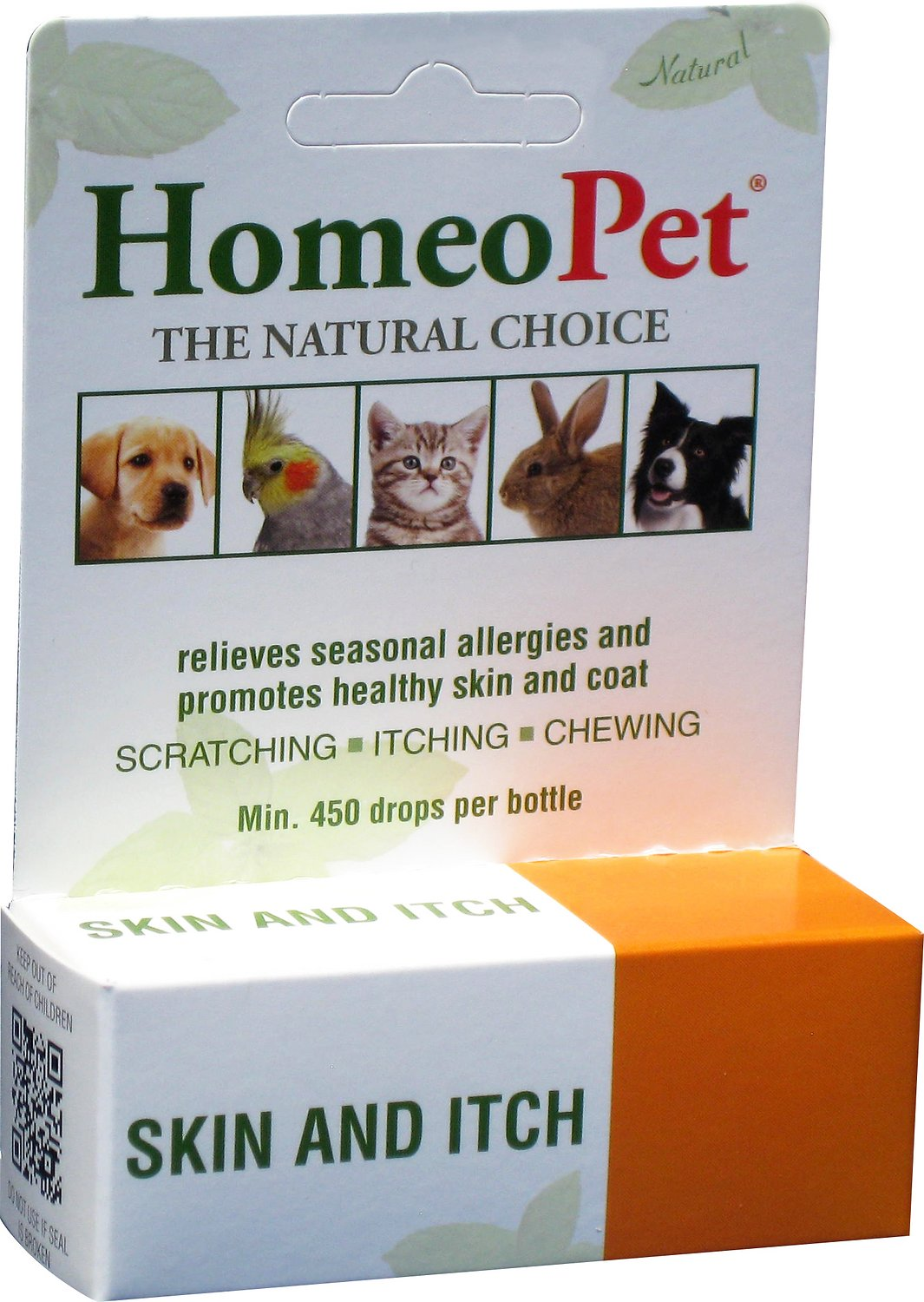 HomeoPet Skin & Itch Dog, Cat, Bird & Small Animal Supplement, 450 drops