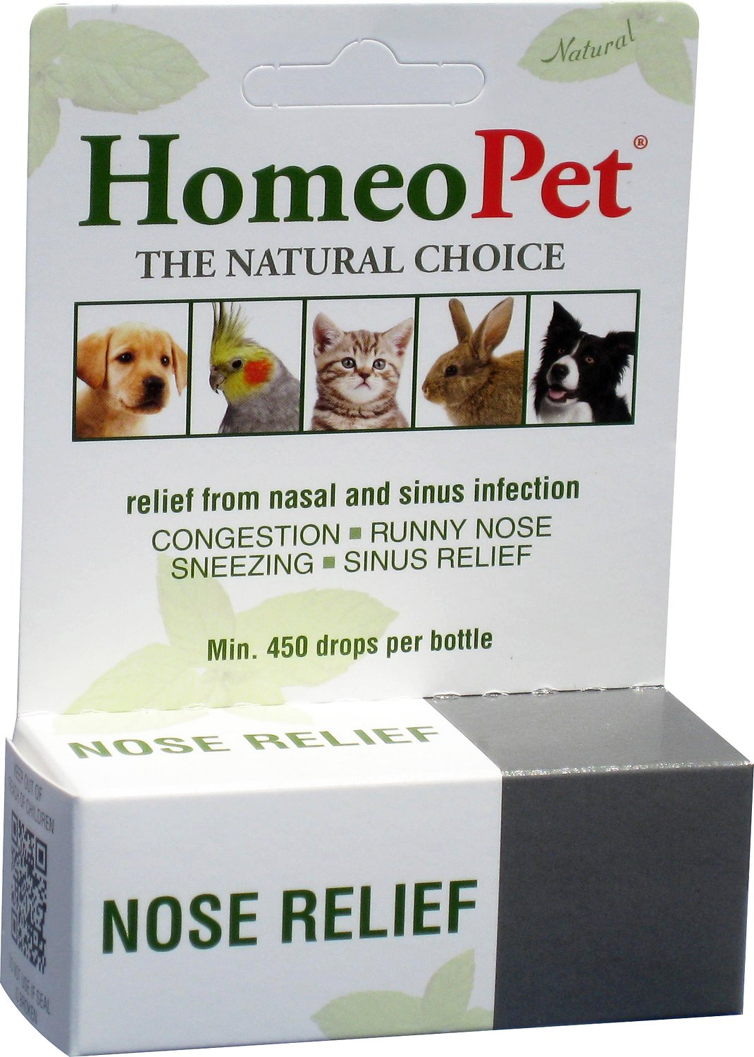 HomeoPet Nose Relief Dog, Cat, Bird & Small Animal Supplement, 450 drops