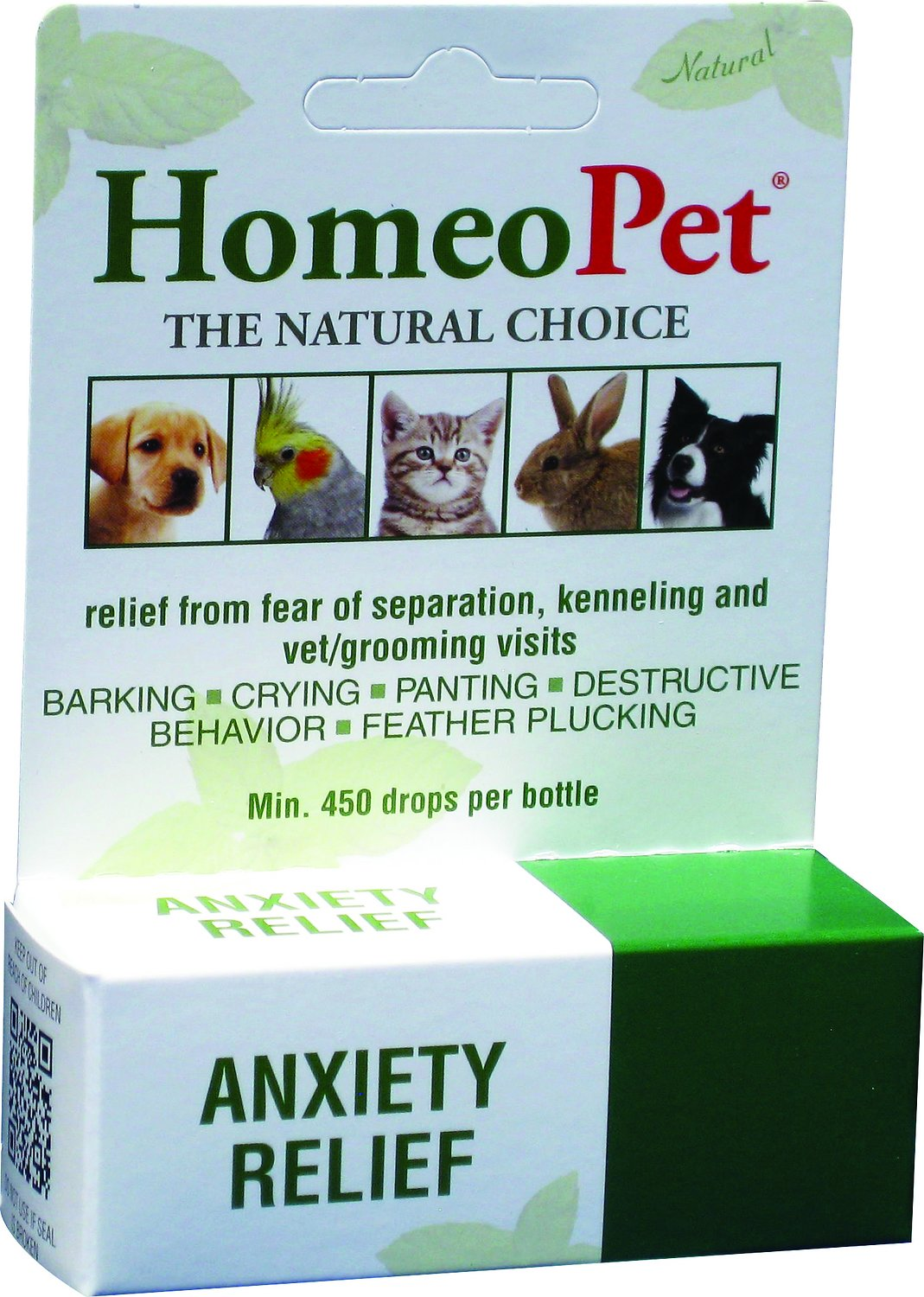 HomeoPet Anxiety Relief Dog, Cat, Bird & Small Animal Supplement, 450 drops