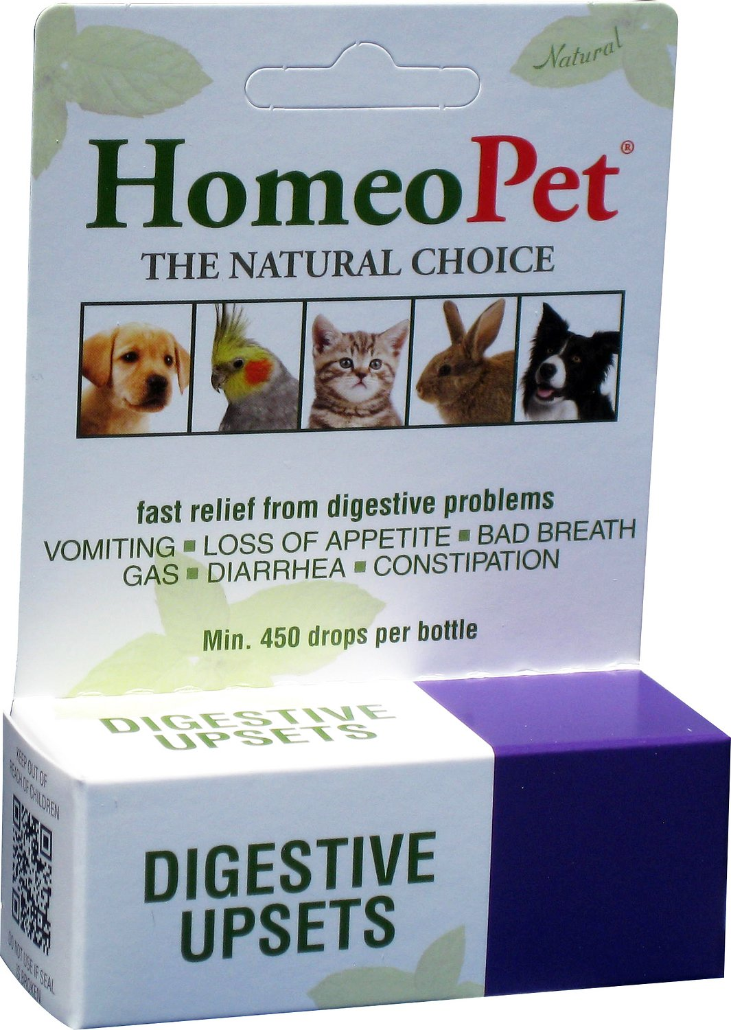 HomeoPet Digestive Upsets Dog, Cat, Bird & Small Animal Supplement, 450 drops