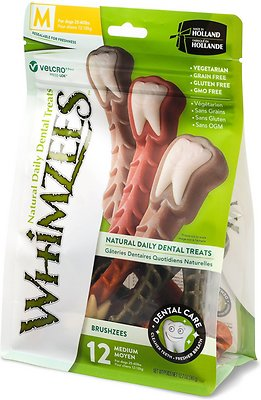 WHIMZEES Brushzees Natural Daily Dental Dog Treats
