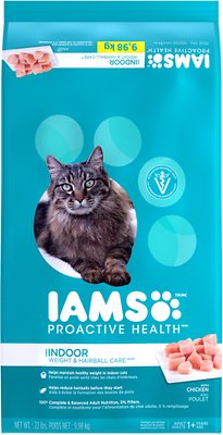 Iams ProActive Health Indoor Weight & Hairball Care Dry Cat Food, 22-lb bag