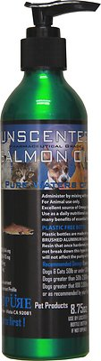 Iceland Pure Pet Products Unscented Pharmaceutical Grade Salmon Oil Liquid Dog & Cat Supplement