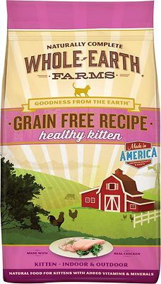 Whole Earth Farms Grain-Free Healthy Kitten Recipe Dry Cat Food, 2.5-lb bag