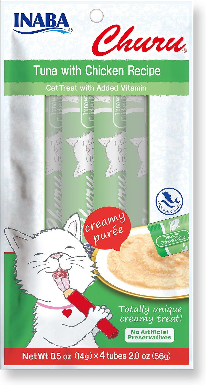 Inaba Churu Grain-Free Tuna with Chicken Puree Lickable Cat Treat