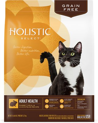 Holistic Select Adult Health Rabbit Meal & Chickpeas Grain Free Dry Cat Food