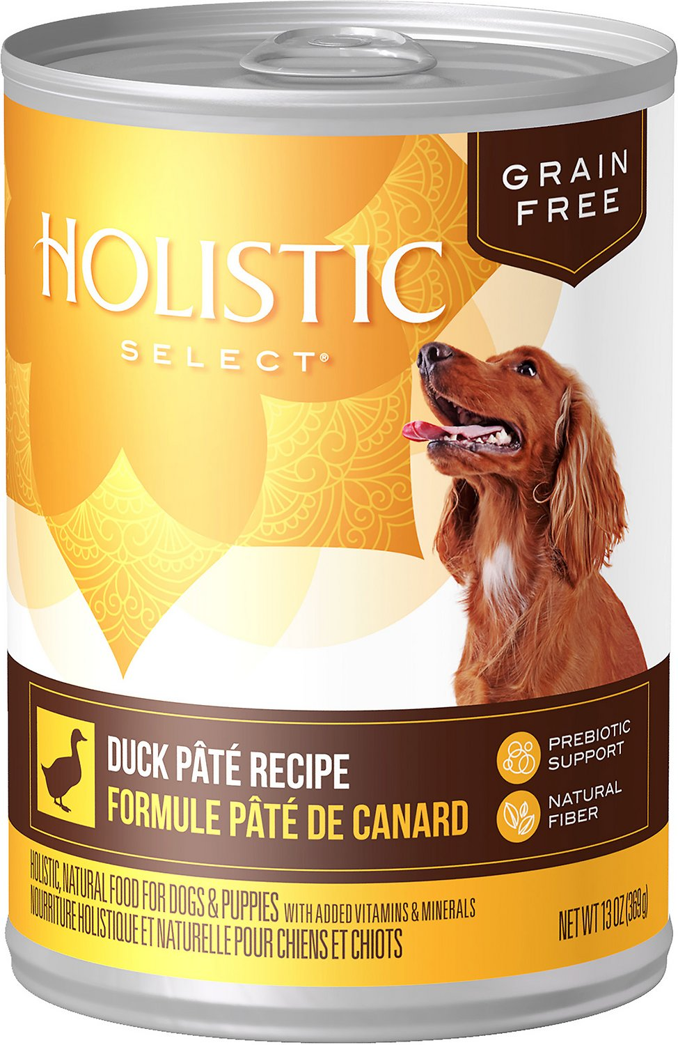 Holistic Select Duck Pate Recipe Grain-Free Canned Dog Food, 13-oz