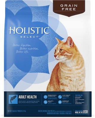 Holistic Select Adult Health Anchovy, Sardine & Salmon Meals Recipe Dry Cat Food