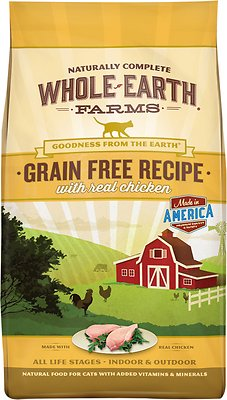 Whole Earth Farms Grain-Free Real Chicken Recipe Dry Cat Food, 2.5-lb bag