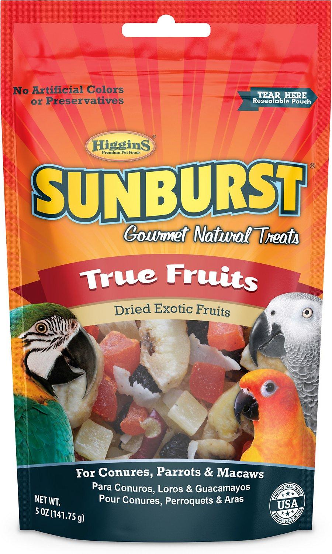 Higgins Sunburst True Fruits Dried Exotic Fruits Bird Treats, 5-oz bag