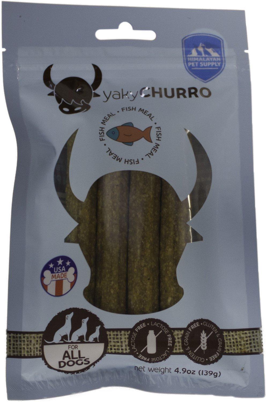 Himalayan Dog Chew Yaky Churro Fish Dog Treats, 4 count