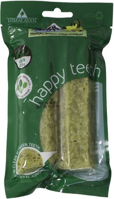 Himalayan Dog Chew Happy Teeth Spinach Flavor Dental Dog Treat, 2 piece