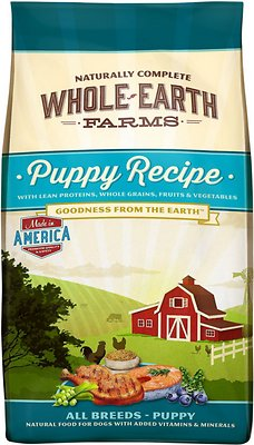 Whole Earth Farms Puppy Recipe Dry Dog Food, 4-lb bag