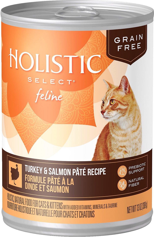 Holistic Select Turkey & Salmon Pate Recipe Grain-Free Canned Cat & Kitten Food