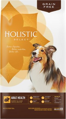 Holistic Select Adult Health Rabbit & Lamb Meal Grain Free Dry Dog Food