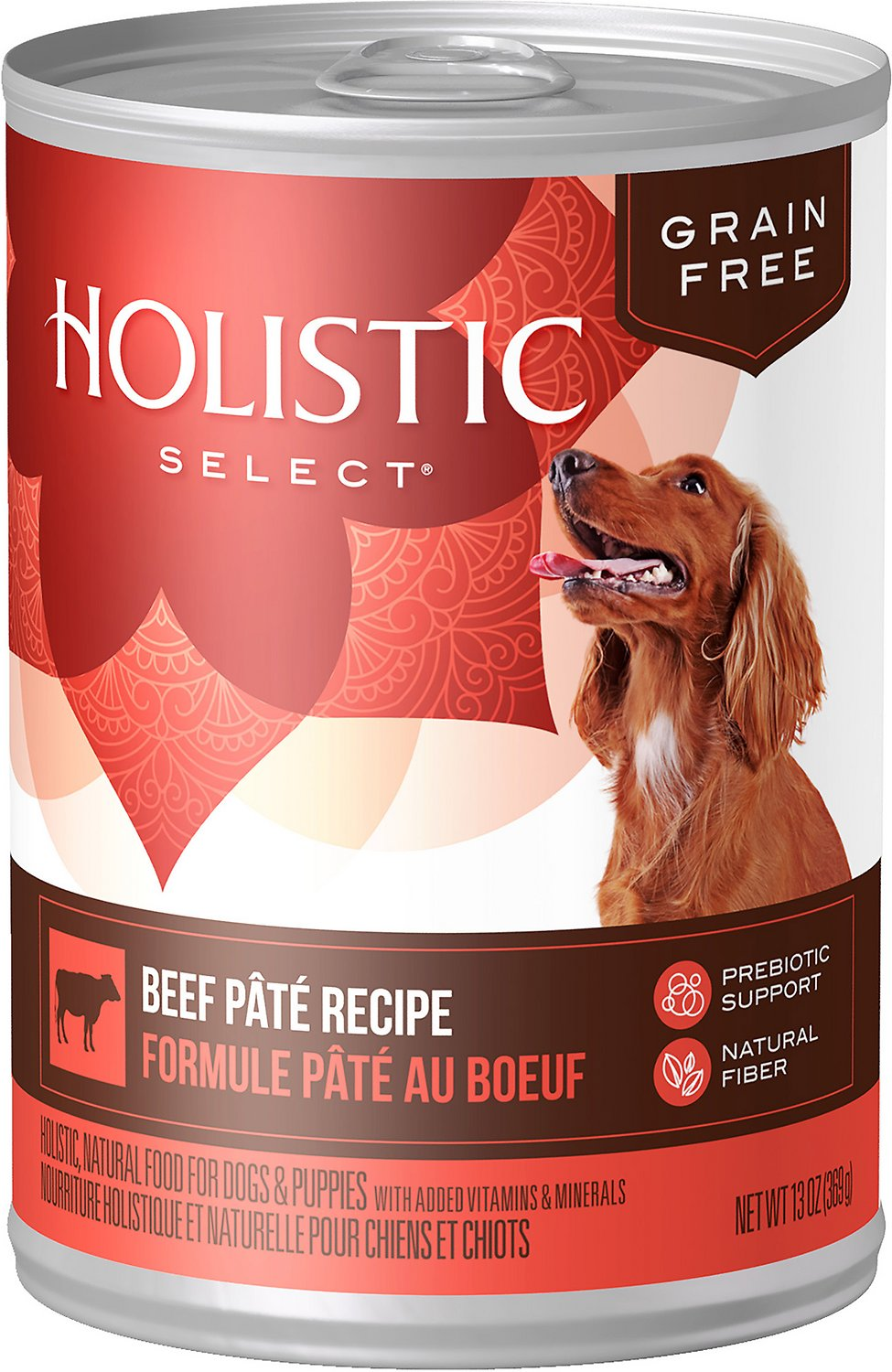 Holistic Select Beef Pate Recipe Grain-Free Canned Dog Food, 13-oz