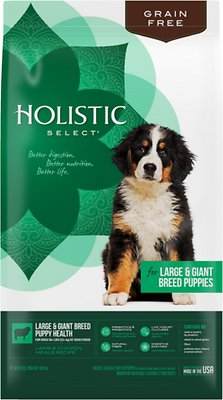 Holistic Select Large & Giant Breed Puppy Lamb & Chicken Meals Natural Grain Free Dry Dog Food