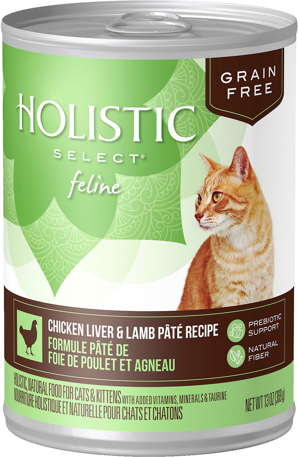 Holistic Select Chicken Liver & Lamb Pate Recipe Grain-Free Canned Cat & Kitten Food