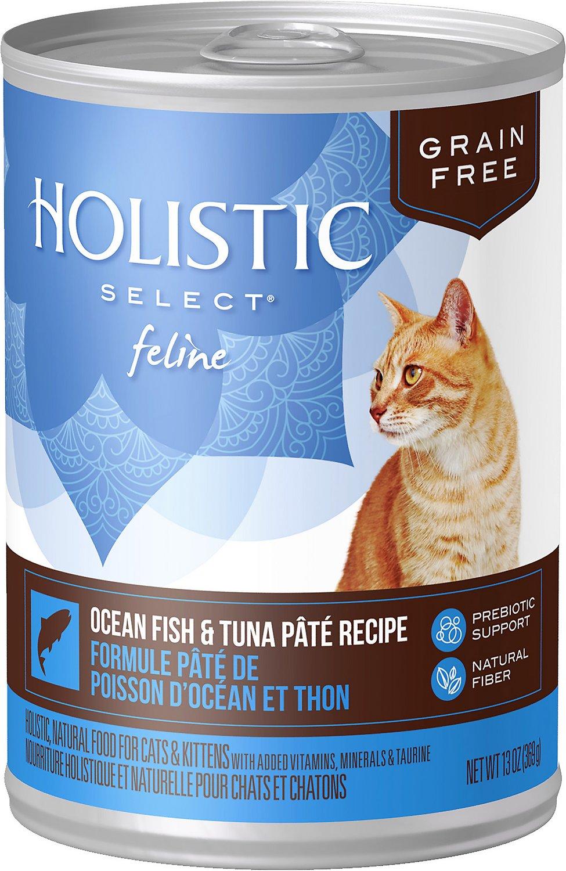 Holistic Select Ocean Fish & Tuna Pate Recipe Grain-Free Canned Cat & Kitten Food