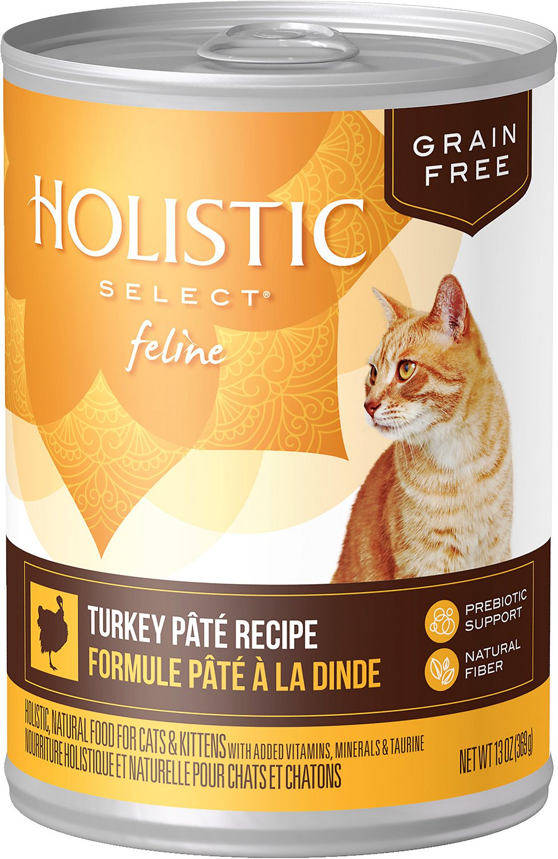 Holistic Select Turkey Pate Recipe Grain-Free Canned Cat & Kitten Food