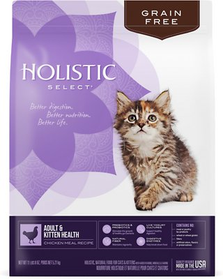 Holistic Select Adult & Kitten Health Chicken Meal Recipe Dry Cat Food
