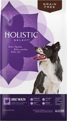 Holistic Select Adult Health Deboned Turkey & Lentils Recipe Grain-Free Dry Dog Food