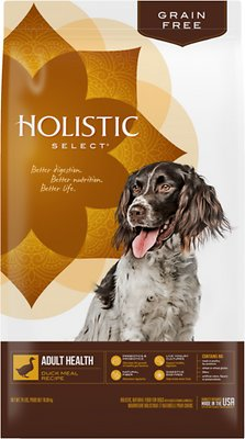 Holistic Select Adult Health Duck Meal Recipe Dry Dog Food, 24-lb
