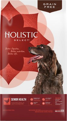 Holistic Select Senior Health Chicken Meal & Lentils Recipe Dry Dog Food