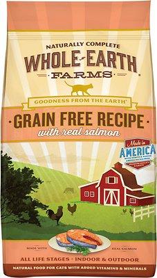 Whole Earth Farms Grain-Free Real Salmon Recipe Dry Cat Food, 2.5-lb bag