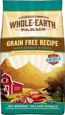 Whole Earth Farms Grain-Free Turkey & Duck Dry Dog Food, 12-lb bag