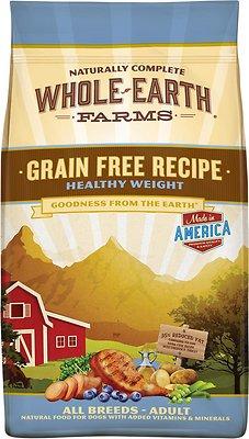 Whole Earth Farms Grain-Free Healthy Weight Dry Dog Food, 25-lb bag