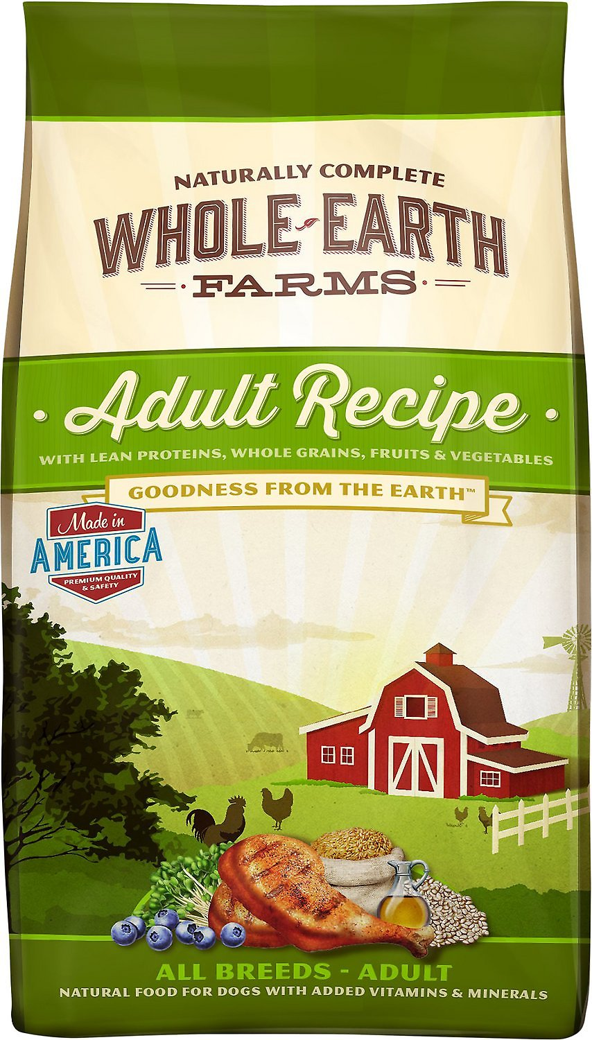 Whole Earth Farms Adult Recipe Dry Dog Food Image
