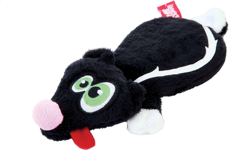 Hear Doggy Silent Squeaker Flattie Skunk Dog Toy