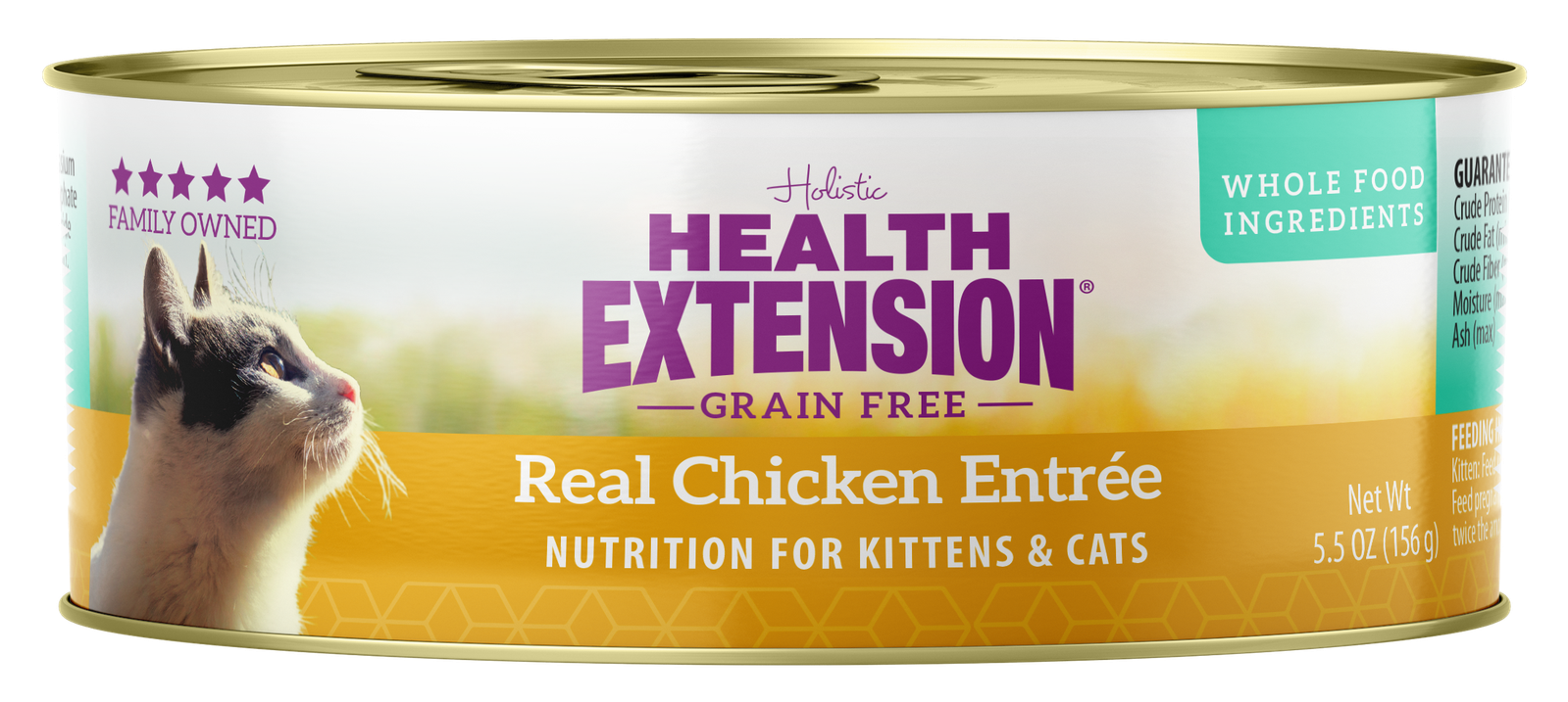 Health Extension Chicken Entree Canned Cat & Kitten Food, 5.5-oz