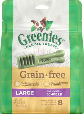 Greenies Grain-Free Large Dental Dog Treats, 8-count