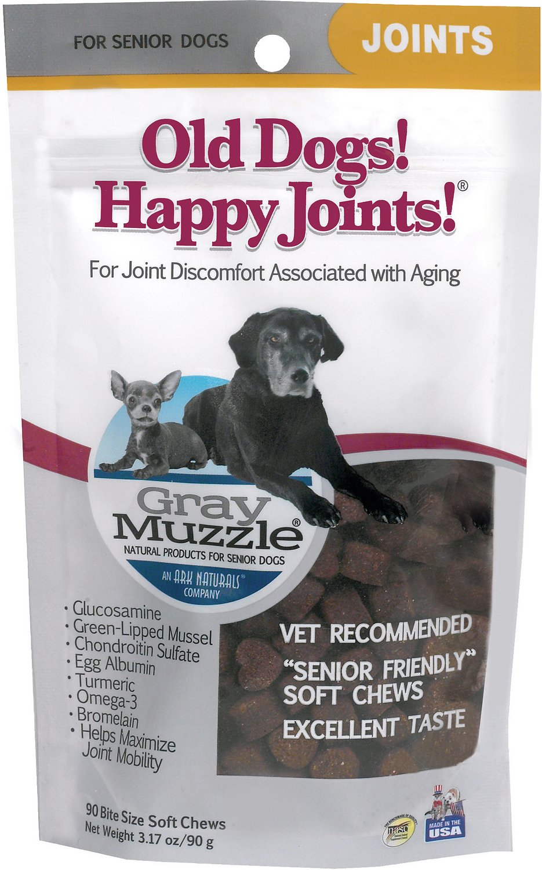 Ark Naturals Gray Muzzle Joint Health Senior Dog Treats, 3.17-oz bag, 90 count