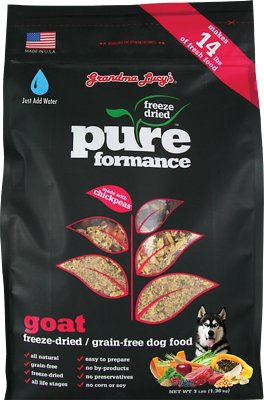 Grandma Lucy's Pureformance Grain-Free Goat Freeze-Dried Dog Food