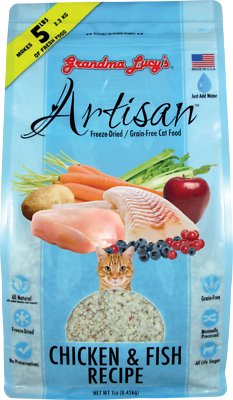 Grandma Lucy's Artisan Grain-Free Chicken & Fish Freeze-Dried Cat Food