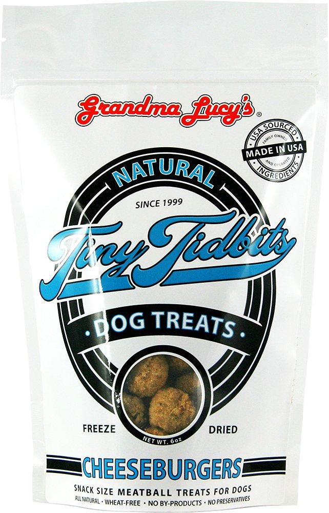 Grandma Lucy's Freeze-Dried Tiny Tidbits Meatballs CheeseBurgers Dog Treats, 6-oz bag