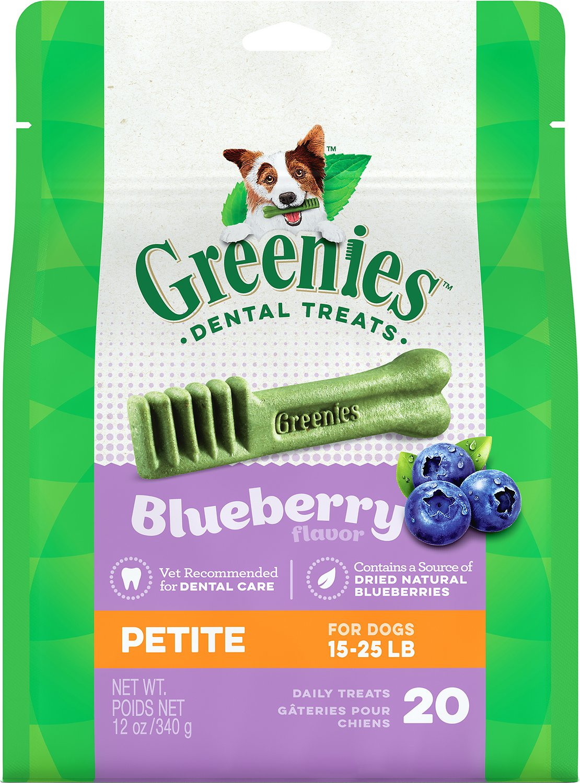 Greenies Bursting Blueberry Petite Dental Dog Treats, 20-count