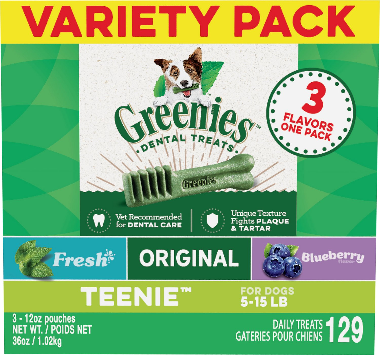 Greenies Variety Pack Teenie Dental Dog Treats, 129 count