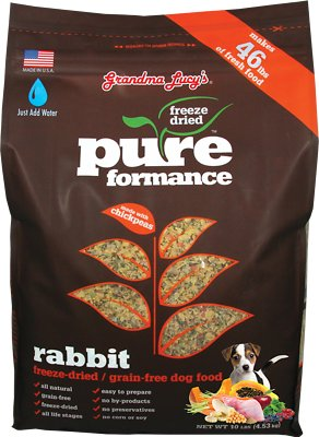 Grandma Lucy's Pureformance Grain-Free Rabbit Freeze-Dried Dog Food