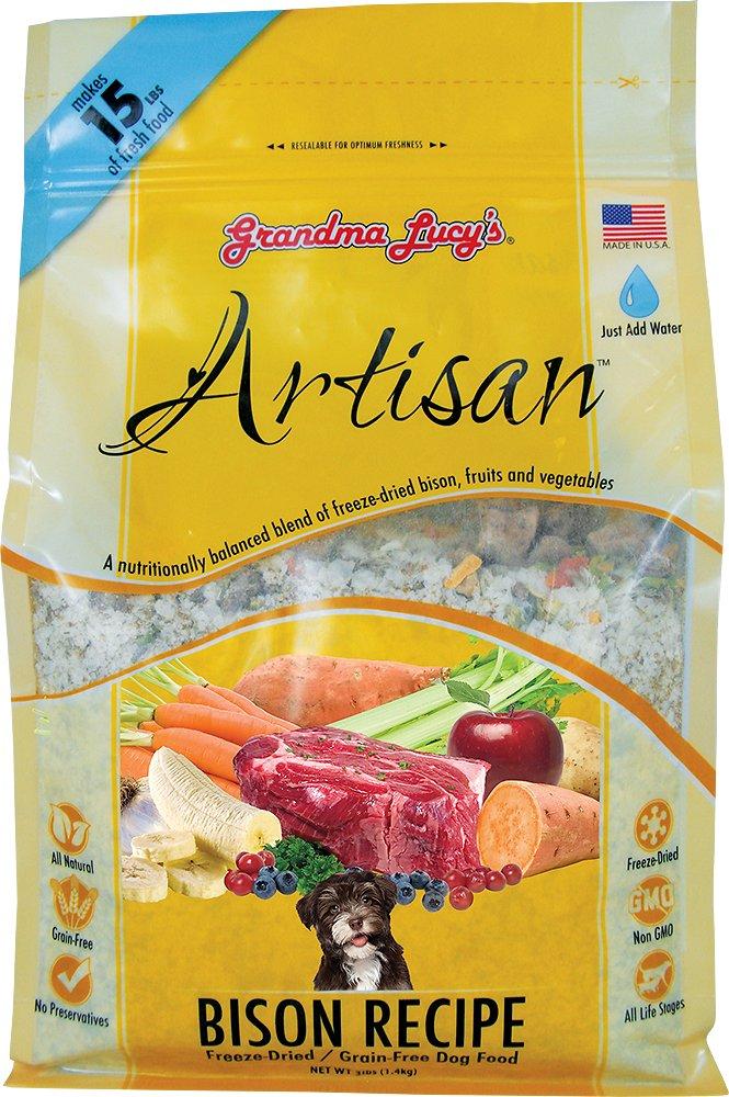 Grandma Lucy's Artisan Grain-Free Bison Freeze-Dried Dog Food, 3-lb bag
