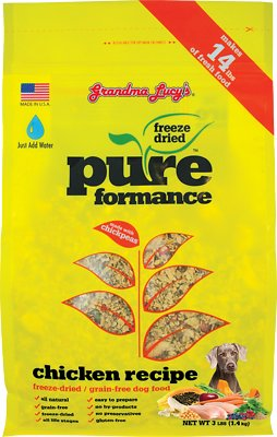 Grandma Lucy's Pureformance Grain-Free Chicken Freeze-Dried Dog Food