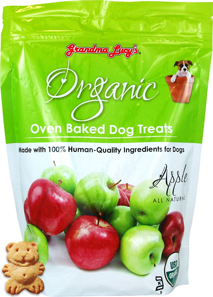 Grandma Lucy's Organic Apple Oven Baked Dog Treats, 14-oz bag