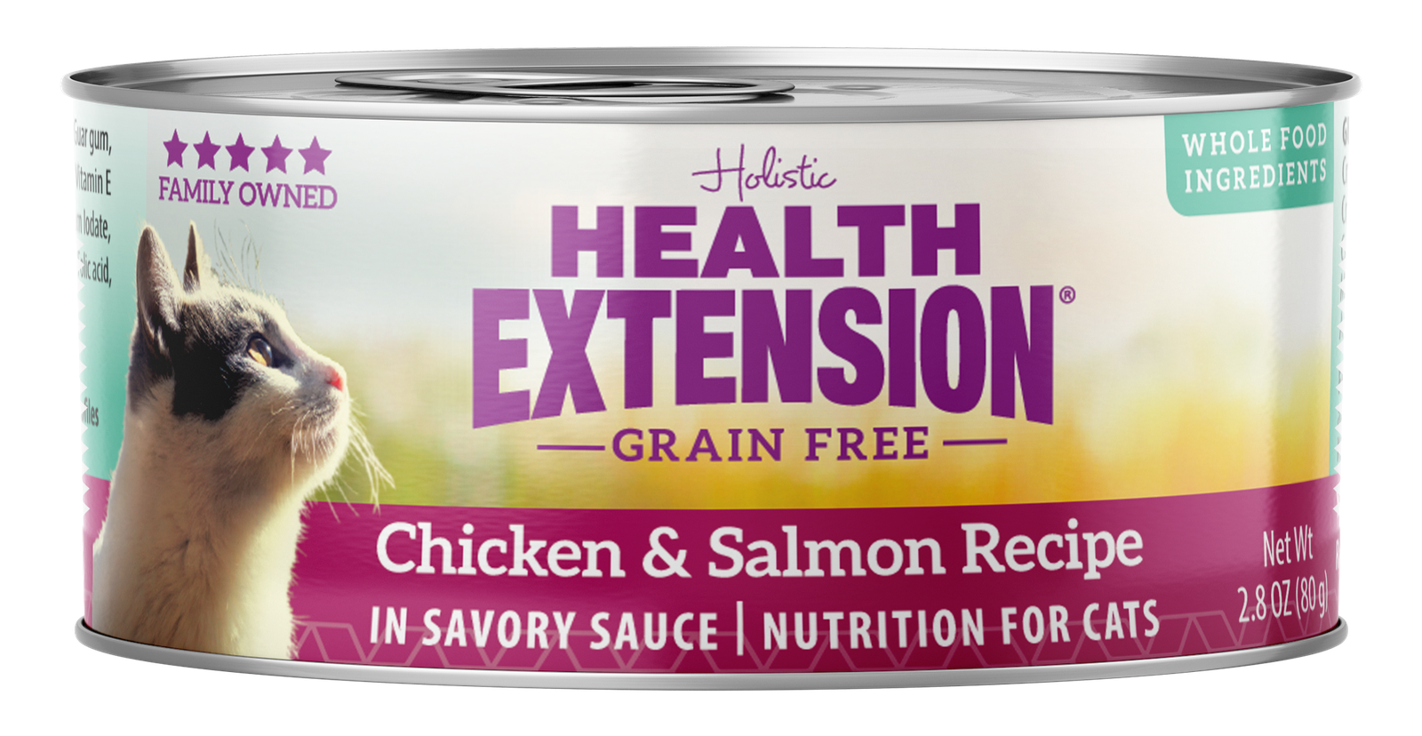 Health Extension Grain-Free Chicken & Salmon Recipe Canned Cat Food, 3-oz