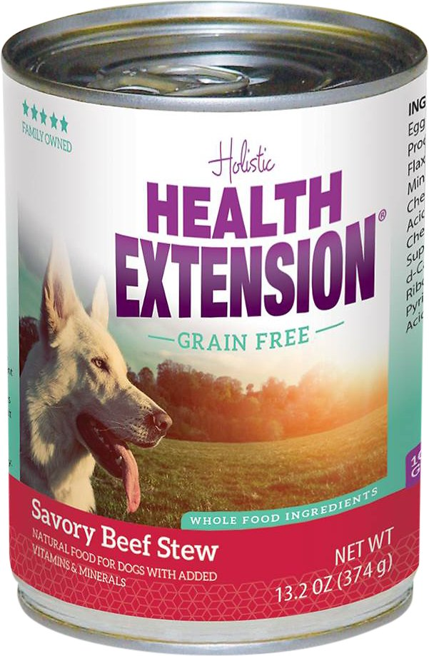 Health Extension Grain-Free Savory Beef Stew Canned Dog Food, 13.2-oz