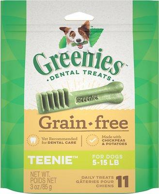 Greenies Grain-Free Teenie Dental Dog Treats, 11-count